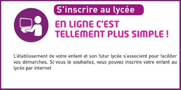 Inscription au Lycée en ligne