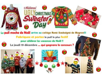 The ugly christmas sweater contest