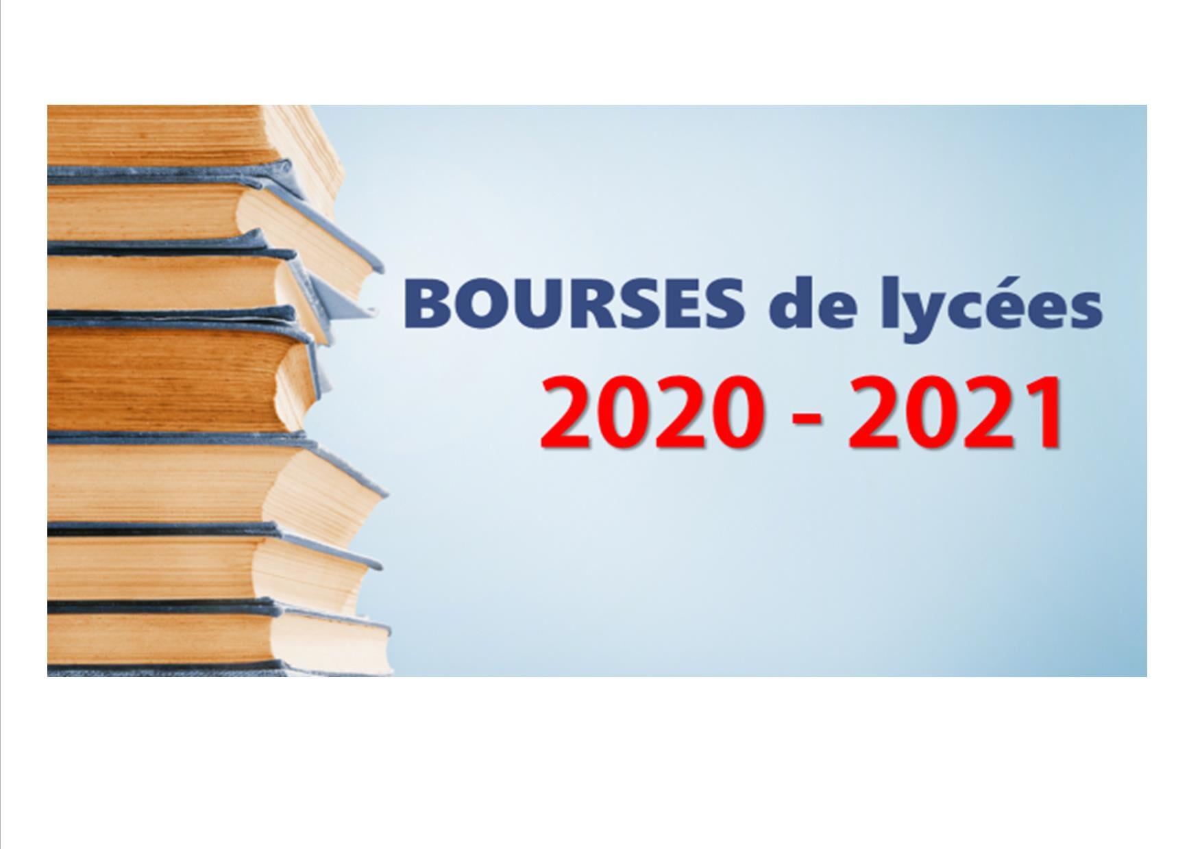 Bourse de lycée rentrée 2020