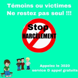 Read more about the article Le droit et la règle – Des principes pour vivre ensemble : Dire NON au harcèlement scolaire !