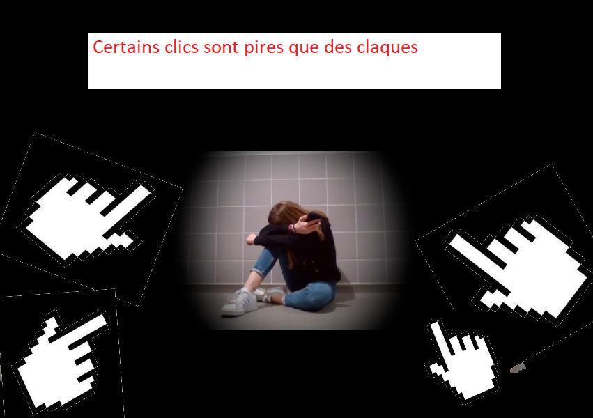 Affiche cyber-harcèlement daverat clementine et laborde camille